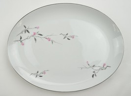 "Fine China Of Japan Cherry Blossom 16"" Oval Ser... - $53.99"