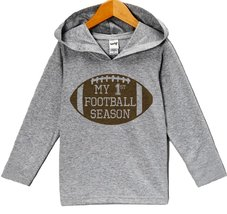 Custom Party Shop Baby Boy's Novelty Football Hoodie Pullover 2T Grey and Brown - $22.05