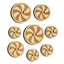 Peppermint Candy Swirl Wood Buttons for Sewing Knitting Crochet DIY Craft - Medi - $9.99