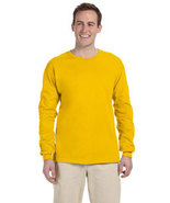 Yellow Gold M  Long sleeve Gildan ultra cotton T-shirt 2400 G240 G2400 - $10.00