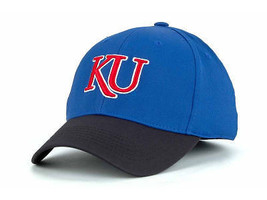 KANSAS JAYHAWKS  - TOW 2 TONE FOCUS NCAA FLEX FIT CAP HAT - SIZES S/M & ... - $17.99