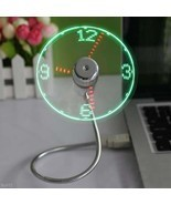 New Arrival Flexible Gooseneck LED Clock USB Fa... - $7.74