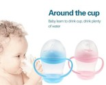 160ml Baby Cup Handle Children Learn Drinking Straw Bottle Sippy Cup Infant New