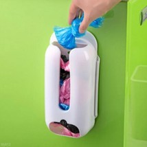 Practical Wall Mount Plastic Carrier Bag Storag... - $5.13