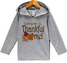 Custom Party Shop Thankful For Me Thanksgiving Hoodie 3T Grey - $22.05