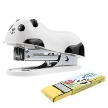 Home School Office Desk Mini Cartoon Panda Stapler + Free 1000Pcs Staple... - $43,10 MXN