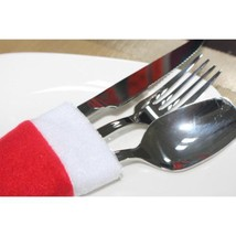 4Pcs/Set Mini Cute Santa Hat Suit Christmas Tableware Silverware Holder ... - £1.20 GBP