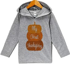 Custom Party Shop My First Thanksgiving Hoodie 5T Grey - $22.05