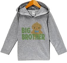 Custom Party Shop Baby Boy's Big Brother Hoodie Pullover 5T Grey and Green - $22.05