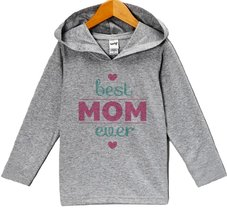 Custom Party Shop Baby Girls' Mother's Day Hoodie Pullover 4T Grey and Pink - $22.05