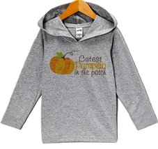 Custom Party Shop Baby's Cutest Pumpkin In The Patch Thanksgiving Hoodie 12 M... - $22.05