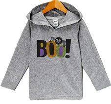 Custom Party Shop Baby Boo Halloween Hoodie 18 Months Grey - $22.05