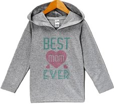 Custom Party Shop Baby Girls' Mother's Day Hoodie Pullover 2T Grey and Teal - $22.05