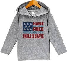 Custom Party Shop Kids 4th of July Hoodie Pullover 3T Grey - $22.05
