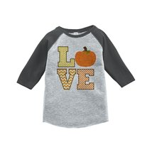Custom Party Shop Baby's LOVE Fall Thanksgiving 2T Grey Raglan - $20.58