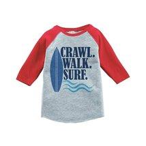 Custom Party Shop Crawl Walk Surf Summer Raglan Tee 2T Red - $20.58