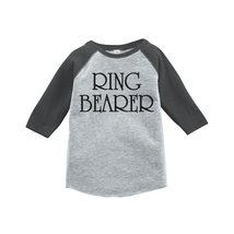 Custom Party Shop Ring Bearer Kids Wedding Raglan Tee 3T Grey - $20.58
