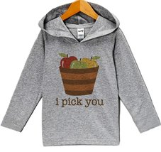 Custom Party Shop Baby's I Pick You Thanksgiving Hoodie 6 Months Grey - $22.05