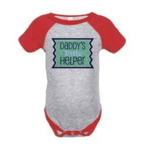 Custom Party Shop Boy's 1st Father's Day Onepiece 18 Months Red and Green - ₹1,439.48 INR