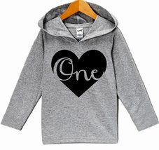 Custom Party Shop Baby Boy's First Birthday One Hoodie Pullover 12 Months Gre... - $22.05