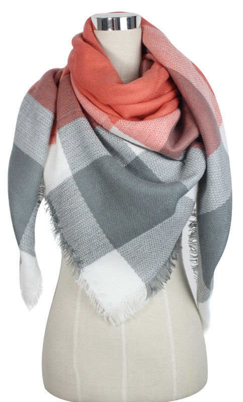 Primary image for US SELL Women Blanket Oversized Tartan Scarf Wrap Shawl Pashmina Stole - Gray
