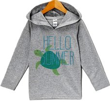 Custom Party Shop Unisex Baby Hello Summer Hoodie Pullover 24 Months Grey and... - $22.05