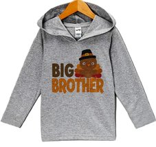 Custom Party Shop Baby Boy's Big Brother Thanksgiving Hoodie 18 Months Grey - $22.05