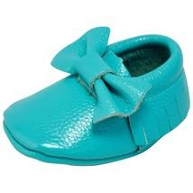 Unique Baby 100% Genuine Leather Bow Moccasins Anti-Slip Tassels Prewalk... - $16.99