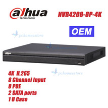 Dahua NVR4208-8P-4KS2 NVR 8 Channel 1U 8PoE 4K&H.265 Lite Network Video ... - $282.15
