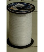 """Nice Large Roll of Ribbed Curling 3/16"""" Ribbon, VERY GD COND, GREAT Whit... - $9.89"""