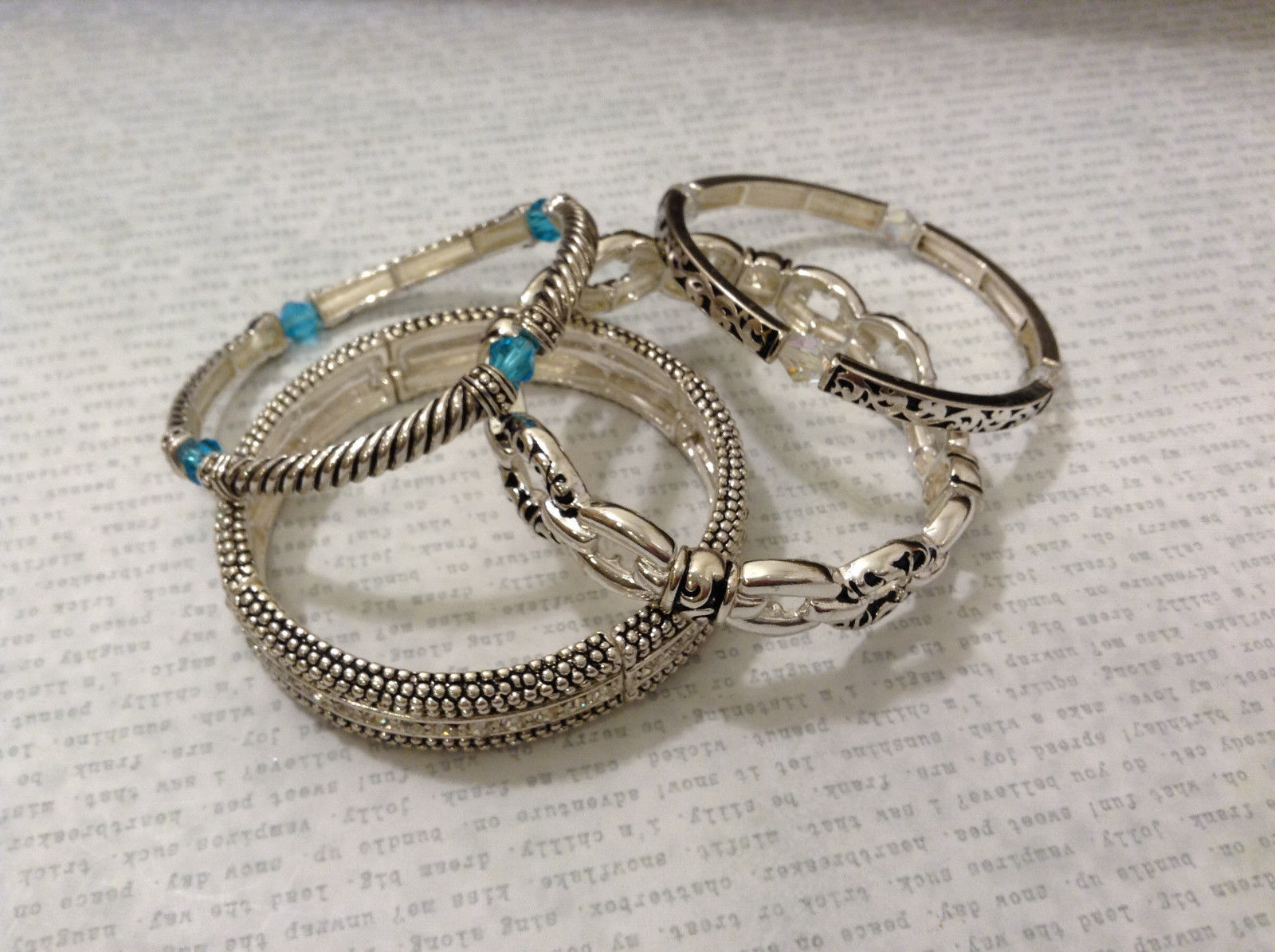 Jubilee! New Without tag Metal Silver Tone Lot of 4 Mix and Match Bracelets
