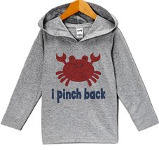 Custom Party Shop Baby Boy's Funny Crab Summer Hoodie Pullover 6 Months Grey ... - $22.05