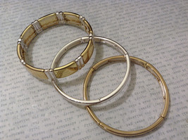 Jubilee! New Without tag Metal Gold Silver Tone Lot of 3 Mix and Match Bracelets