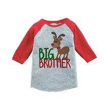 Custom Party Shop Kids Big Brother Christmas Raglan Shirt Red 5/6T - $20.58