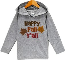 Custom Party Shop Baby's Happy Fall Y'all Hoodie 12 Months Grey - $22.05