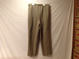 Excellent Condition Annie Walwyn-Jones Light Khaki Green Wool Pants Lined Large