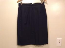 Great Condition Norton McNaughton Size 14 Skirt Black 100% Polyester Button Zip
