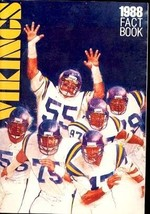MINNESOTA VIKINGS '88-MEDIA GUIDE-RICH GANNON VG - $18.62