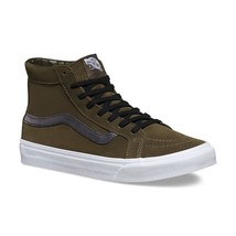 VANS Sk8 Hi Slim Cutout (Perf Suede) Tarmac/True White Women's Shoes Size 9 - $54.95