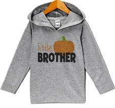 Custom Party Shop Baby Little Brother Halloween Hoodie 12 Months Grey - $22.05