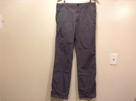 Great Condition Uniqlo Large 100% Cotton Gray White Graph Zip Button String Pant