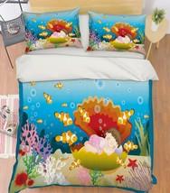 3D Shell Girl 31 Bed Pillowcases Quilt Duvet Cover Set Single Queen King Size AU - $90.04+