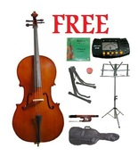 Crystalcello MC100 1/2 Size Cello with Carrying Bag and Bow - $130.00