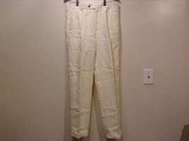 Great Condition Grant Thomas 100% Linen Cream Cuffed 4 Pocket Pants - $74.24