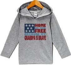 Custom Party Shop Kids 4th of July Hoodie Pullover 4T Grey - $22.05