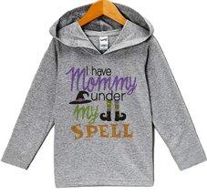 Custom Party Shop Mommy Is Under My Spell Halloween Hoodie 3T Grey - $22.05