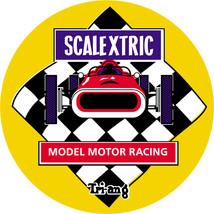 Scalextric composite laminated wall plaque 25cm slot cars toys retro vin... - $32.00