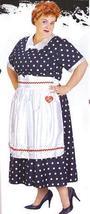 PLUS SIZE I LOVE LUCY POLKA DOT DRESS & APRON - $49.00