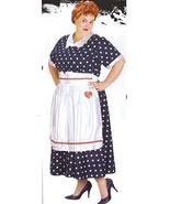 PLUS SIZE I LOVE LUCY POLKA DOT DRESS & APRON - $49.00