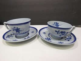 Set of 2 Different Shaped Copeland Spode Spodes Gloucester Cups and Saucers - $27.72